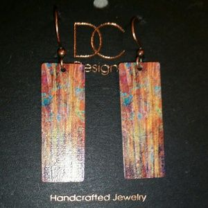 D & C Design Earrings Forest Color in Fall